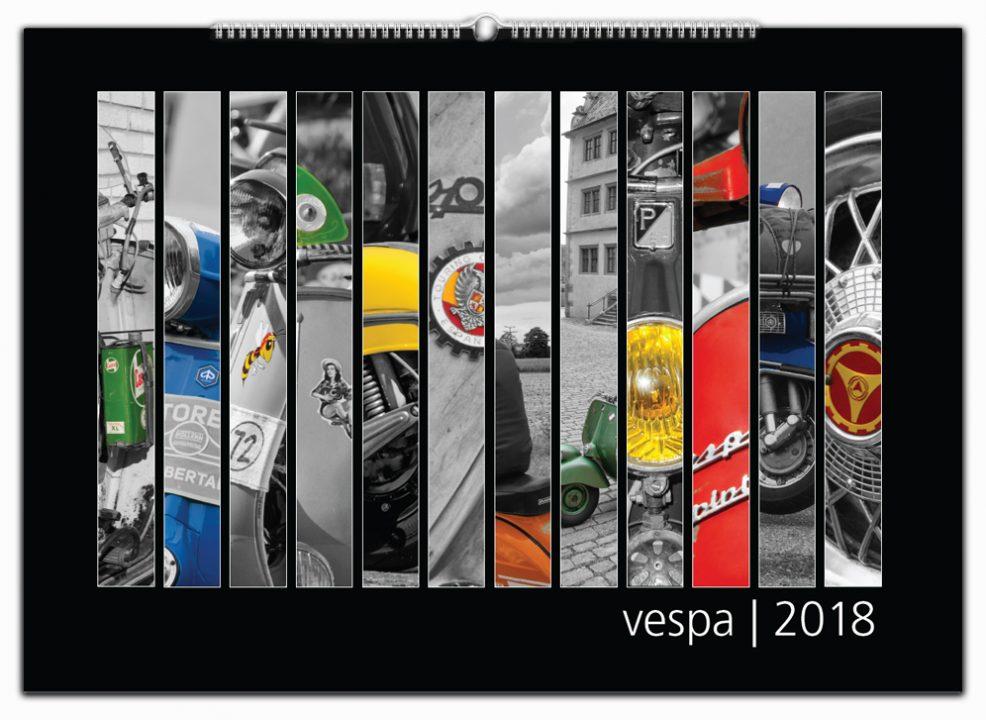 Vespa JAhreskalender im Digitaldruck